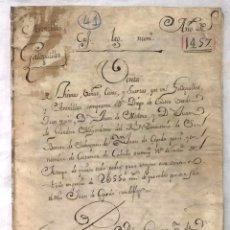 Manuscritos antiguos: DOCUMENTO DE VENTA DE TIERRAS, VIÑAS, CASAS, ... EN GALLEGUILLOS, SALAMANCA Y ARENILLAS, SORIA 1457. Lote 198716216