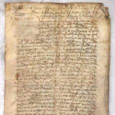 Manuscritos antiguos: DOCUMENTO DE VENTA DE TIERRAS. MAIRENA, SEVILLA. AÑO 1366. Lote 198716663