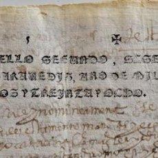 Manuscritos antiguos: TIMBROLOGÍA DOCUMENTO CON SELLOS 2º 68 MARAVEDIS AÑO 1638 EN BUEN ESTADO. Lote 198818017