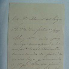 Manuscritos antiguos: CARTA MANUSCRITA DEL SIGLO XIX. SEVILLA, 1897. Lote 199069196
