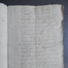 Manuscritos antiguos: MANUSCRITO AÑO 1571 SEÑOR DE BUSOT Y AGRES ALICANTE RENUNCIA FAVOR CONDE VILLALONGA 6 PÁGS. Lote 199076685
