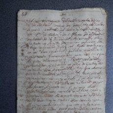 Manuscritos antiguos: MANUSCRITO AÑO 1632 XERICA - JÉRICA TESTAMENTO 7 PÁGINAS. Lote 199077293
