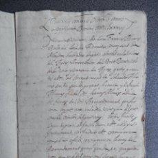 Manuscritos antiguos: MANUSCRITO AÑO 1637 AGRES ALICANTE RENUNCIA DE LOS DERECHOS DOMINICALES ARRENDADORES EN VALENCIANO . Lote 199077646