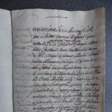 Manuscritos antiguos: MANUSCRITO AÑO 1627 ZARAGOZA VENTA TIERRAS MIRALBUENO VIÑAS. INTERESANTE NOMBRES DE LUGARES Y ACEQUI. Lote 199077862