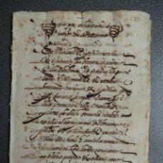 Manuscritos antiguos: MANUSCRITO AÑO 1609 ONTENIENTE VALENCIA D. FELIPE TALLADA REGENTE DEL CONSEJO DEL REINO DE ARAGÓN . Lote 199078350