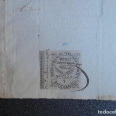 Manuscritos antiguos: MANUSCRITO AÑO 1879 FISCALES PEGADOS Y COLEGIO NOTARIAL ALCAZAR SAN JUAN CIUDAD REAL Y ALBACETE. Lote 199078496