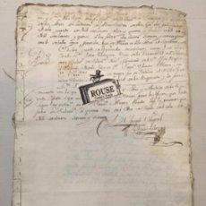 Manuscritos antiguos: SALAMANCA - ANTIGUO MANUSCRITO 1761- 40 PÁG. 31,5X21,5 CM. . Lote 199147296