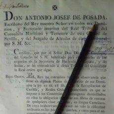Manuscritos antiguos: REAL ORDEN POR LA QUE SE IMPONE A COMERCIANTES EXTRANJEROS LLEVAR SUS CUENTAS EN CASTELLANO. Lote 199234431