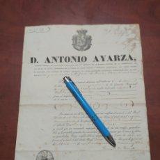 Manuscritos antiguos: NOMBRAMIENTO DE CAPITÁN , BURGOS 1836. Lote 199368461
