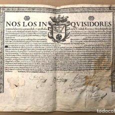 Manuscritos antiguos: NOMBRAMIENTO DE FAMILIAR DE LA INQUISICIÓN A FAVOR DE PEDRO OLIVER TRIVIÑO. ALMAGRO, TOLEDO. 1658.. Lote 199377097
