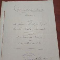 Manuscritos antiguos: DOCUMENTO ANTIGUO ALCOY ALICANTE 1801,. Lote 199386908