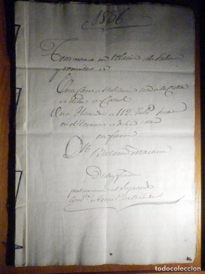 Manuscritos antiguos: Documento Timbrología Año 1836 - 13 sellos Cuartos 4º 40 mrs Maravedies - Catral, Orihuela, Alicante - Foto 2 - 199433552