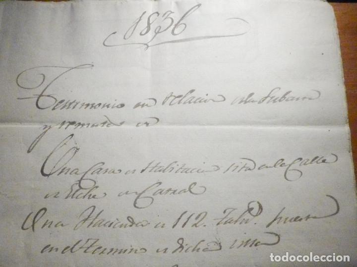 Manuscritos antiguos: Documento Timbrología Año 1836 - 13 sellos Cuartos 4º 40 mrs Maravedies - Catral, Orihuela, Alicante - Foto 3 - 199433552
