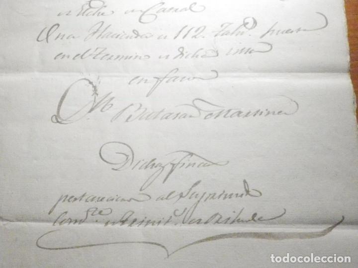 Manuscritos antiguos: Documento Timbrología Año 1836 - 13 sellos Cuartos 4º 40 mrs Maravedies - Catral, Orihuela, Alicante - Foto 4 - 199433552