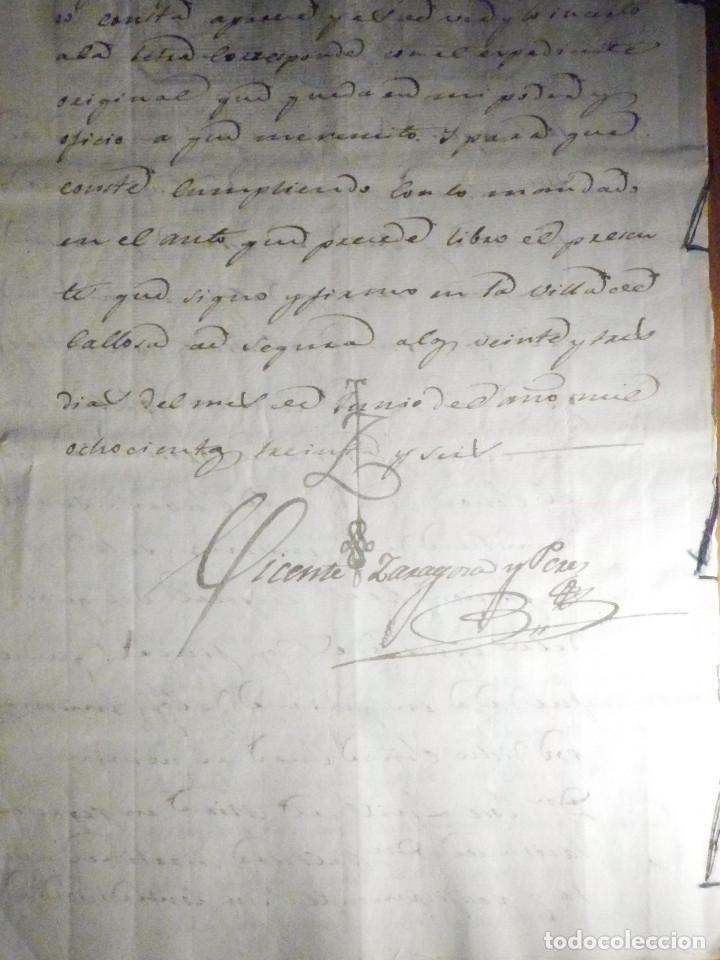 Manuscritos antiguos: Documento Timbrología Año 1836 - 13 sellos Cuartos 4º 40 mrs Maravedies - Catral, Orihuela, Alicante - Foto 19 - 199433552