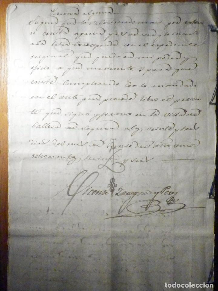 Manuscritos antiguos: Documento Timbrología Año 1836 - 13 sellos Cuartos 4º 40 mrs Maravedies - Catral, Orihuela, Alicante - Foto 20 - 199433552