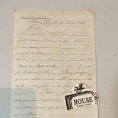 Manuscritos antiguos: CARTA MANUSCRITA 1891 - COMPAÑIA GENERAL DE TABACOS DE FILIPINAS MANILA 30 NOV. 1891 FIRMADA POR. Lote 199502733