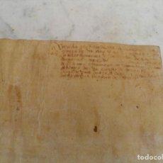 Manuscritos antiguos: PERGAMINO XVI. Lote 199511177