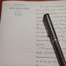 Manuscritos antiguos: CARLOS IBÁÑEZ E IBÁÑEZ DE IBERO 1825-1891. Lote 199638031