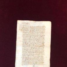 Manuscritos antiguos: DOCUMENTO SOBRE LA CAPILLA DE SANTIAGO FUNDADA EN CÁCERES POR UN ARCEDIANO 1568. Lote 199654353