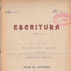 Manuscritos antiguos: 1941 VALENCIA NOTARIO GERMAN PEREZ OLIVARES ESCRITURA DE PODER FISCAL 5º 7,50 PTS. Lote 199658158