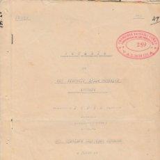 Manuscritos antiguos: 1940 VALENCIA NOTARIO TIBURCIO AVILA GONZALEZ ESCRITURA DE PODER FISCAL 5º 7,50 PTS. Lote 199659271