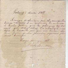Manuscritos antiguos: 1917 - ANTIGUO MANUSCRITO. Lote 199660361