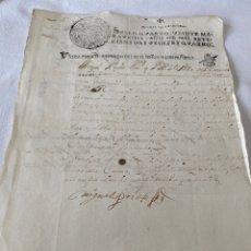 Manuscritos antiguos: LUIS I 1724 SELLO CUARTO VEINTE MARAVEDIS. Lote 199706956