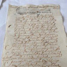 Manuscritos antiguos: LUIS I 1724 PARA DESPACHOS DE OFICIO CUATRO MARAVEDIS. Lote 199707666