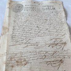 Manuscritos antiguos: FERNANDO VI 1747 DESPACHOS DE OFICIO CUATRO MARAVEDIS. Lote 199712630