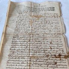 Manuscritos antiguos: FERNANDO VI 1749 SELLO CUARTO VEINTE MARAVEDIS. Lote 199714323