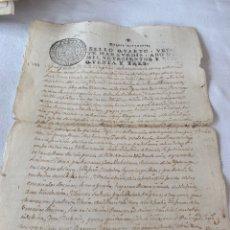 Manuscritos antiguos: FERNANDO VI 1753 SELLO CUARTO VEINTE MARAVEDIS. Lote 199734752