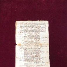 Manuscritos antiguos: RELACIÓN DEL VALOR QUE HA TENIDO LA ENCOMIENDA DE LOPERA (JAÉN) EN 1626-1628. Lote 192639781