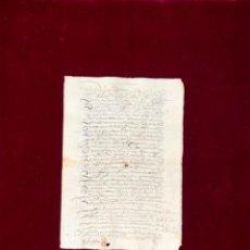Manuscritos antiguos: REAL PROVISIÓN DE FELIPE IV AL GOBERNADOR DEL PARTIDO DE MARTOS (JAÉN) 1630 LOPERA CAÑAVERAL. Lote 192532293