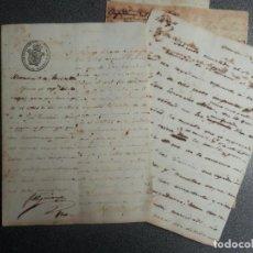 Manuscritos antiguos: ESCLAVITUD CUBA MUY RARO EXPEDIENTE MULTANDO A UN ESCLAVO POR IR CON CABALLOS AÑO 1850 -4 DOCUMENTOS. Lote 199857475