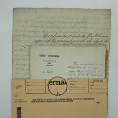 Manuscritos antiguos: LOTE DE 13 DOCUMENTOS MANUSCRITOS DEL AYUNTAMIENTO DE LA LLACUNA-ANOIA BARCELONA 1880-1920. Lote 199969091