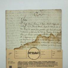 Manuscritos antiguos: DOS MANUSCRITOS. RELACIÓN DUQUE MEDÍNACELLI, VACANTES Y NOMBRAMIENTOS EN ESPECIAL DE JOSEP BATLLE,. Lote 199973378