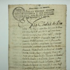 Manuscritos antiguos: DOCUMENTO MANUSCRITO FISCAL AÑO 1790 BARCELONA. Lote 200026972