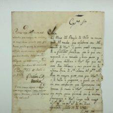 Manuscritos antiguos: CARTA MANUSCRITA ENTRE MARQUES DE LA MINA Y JOSEP ANTONIO RIERA AÑO 1762.RELACIÓN MONTSERRAT. Lote 200029355