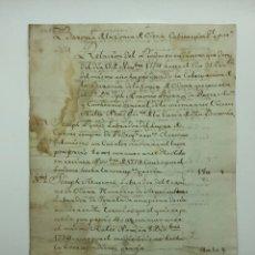 Manuscritos antiguos: DOCUMENTO MANUSCRITO BARONIA DE LA CONCA D'ODENA 1774. Lote 200030226