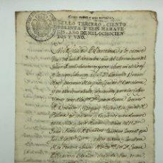 Manuscritos antiguos: DOCUMENTO MANUSCRITO SELLO FISCAL AÑO 1801 BARCELONA. Lote 200032941