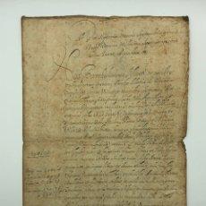 Manuscritos antiguos: DOCUMENTO MANUSCRITO EN LATÍN. Lote 200037202