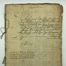 Manuscritos antiguos: DOCUMENTO MANUSCRITO 30 HOJAS CENSARLES AÑO 1733 BARCELONA. Lote 200038342
