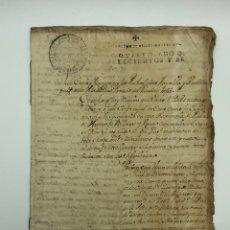Manuscritos antiguos: DOCUMENTO MANUSCRITO FISCAL AÑO 1760 RELACIONADO CON UNA CASA Y MOLINO. Lote 200039236