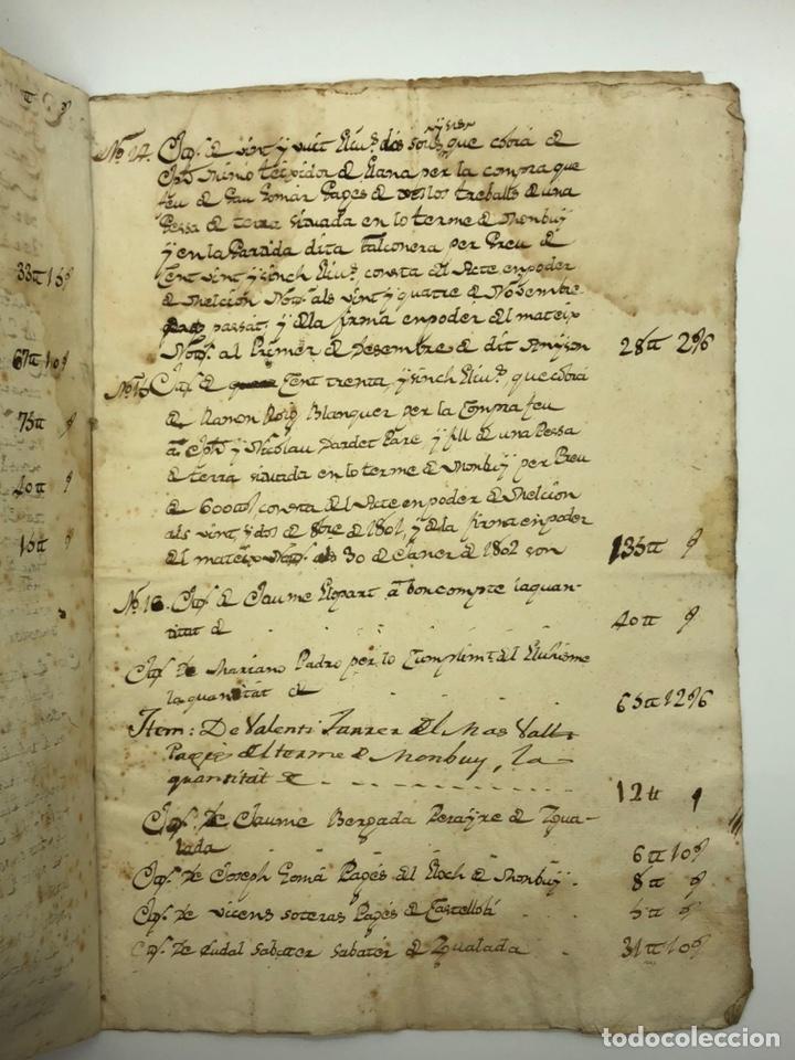Manuscritos antiguos: Documento manuscrito compra-venta año 1801 - Foto 5 - 200073278
