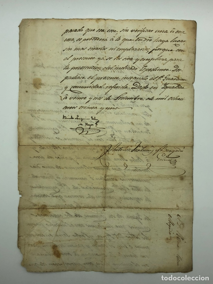 Manuscritos antiguos: Documento manuscrito año 1831 Igualada firmado Benito Joaquín Vélez de Hoyos - Foto 2 - 200074450