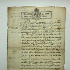 Manuscritos antiguos: DOCUMENTO MANUSCRITO AÑO 1831 IGUALADA FIRMADO BENITO JOAQUÍN VÉLEZ DE HOYOS. Lote 200074450