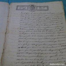 Manuscritos antiguos: ESCRITURA EN CATALÁN DE 1821 Y 1929.4 HOJAS.FERNANDO VII.. Lote 200159116