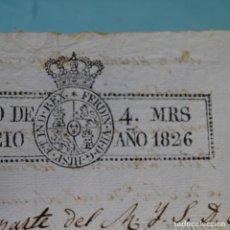 Manuscritos antiguos: DOCUMENTO MANUSCRITO DE 1826.1HOJA.FERNANDO VII.OLESA DE MONTSERRAT.. Lote 200160235