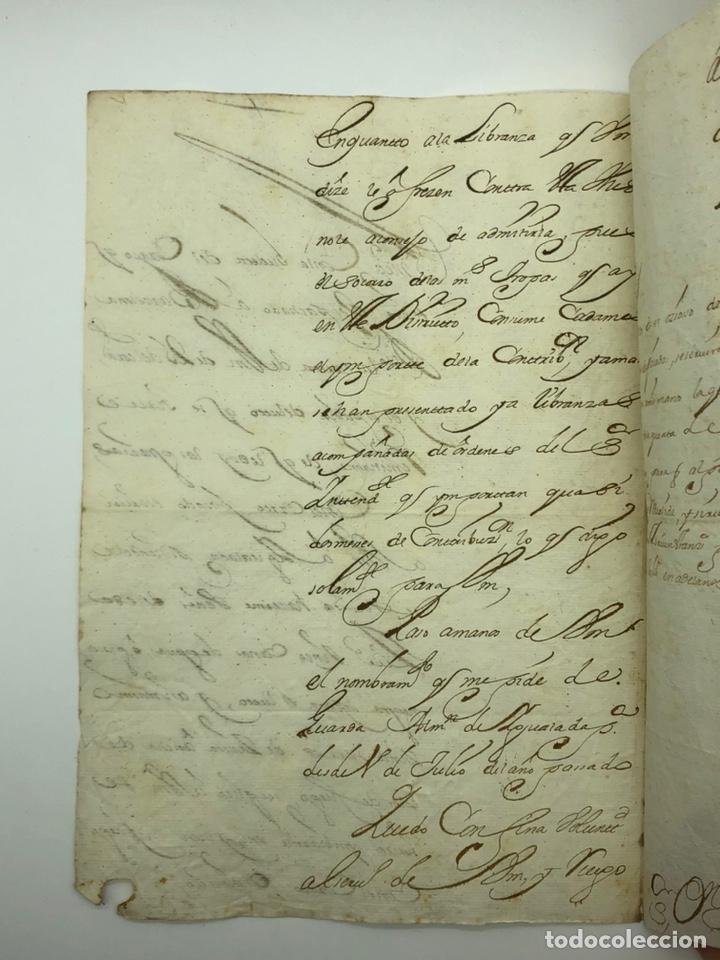 Manuscritos antiguos: Carta manuscrita curiosa caligrafía Tarragona año 1715 - Foto 2 - 200184443